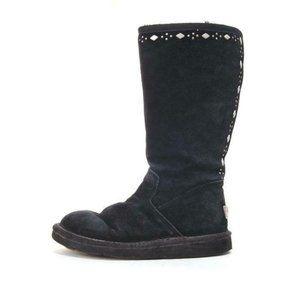 ugg joplin boots 5544 suede black studded lined 5